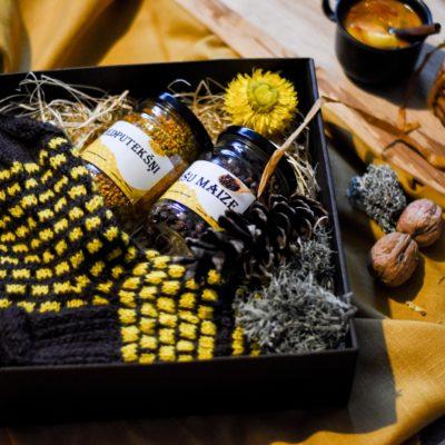 Vīriešu zeķes ar bišu gardumiem