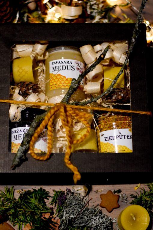 Ziedu medus un sveču komplekts
