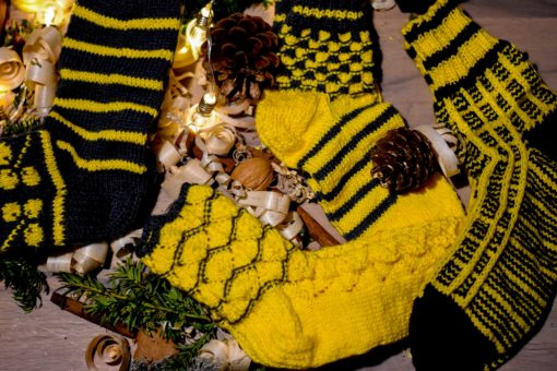 Sieviešu zeķes ar bišu gardumiem