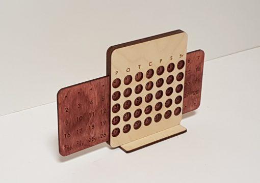 Mazais koka galda kalendārs