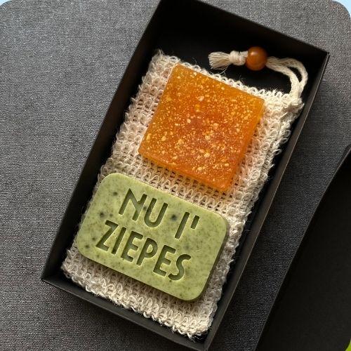 Citrusa, nātru ziepju komplekts ar sizāla sūkli 150g